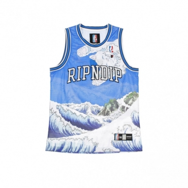 CANOTTA TIPO BASKET GREAT WAVE BASKET JERSEY BLUE