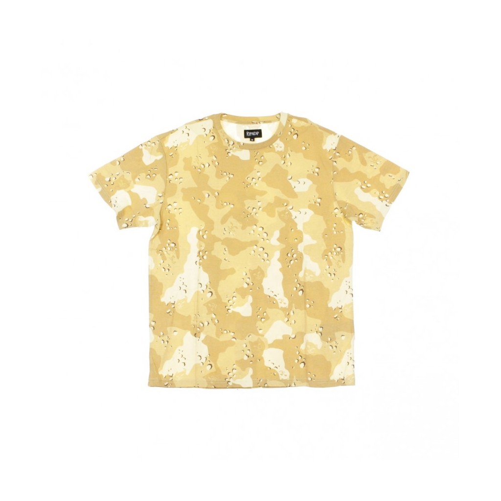 MAGLIETTA NERM CAMO ALL OVER TEE CHOC CHIP SAND