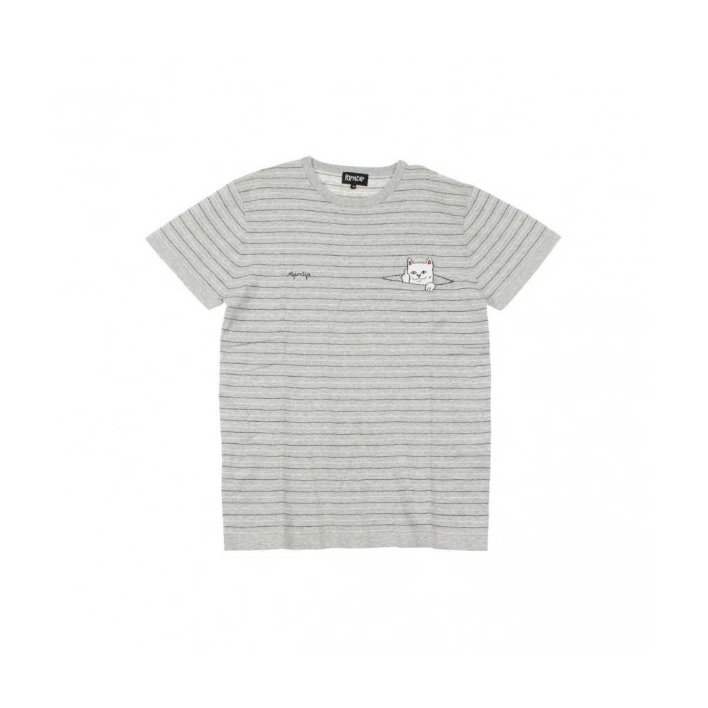 MAGLIETTA PEEKING NERMAL KNIT TEE GREY