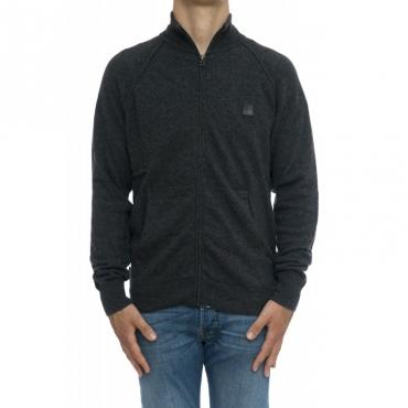 Maglia uomo - Womag1888 uf0350 maglia aperta zip 112 - Antracite