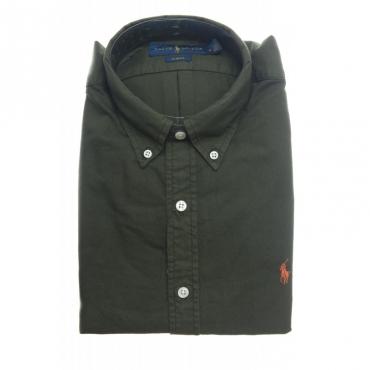 Camicia uomo - 767447 slim tinta unita BLU