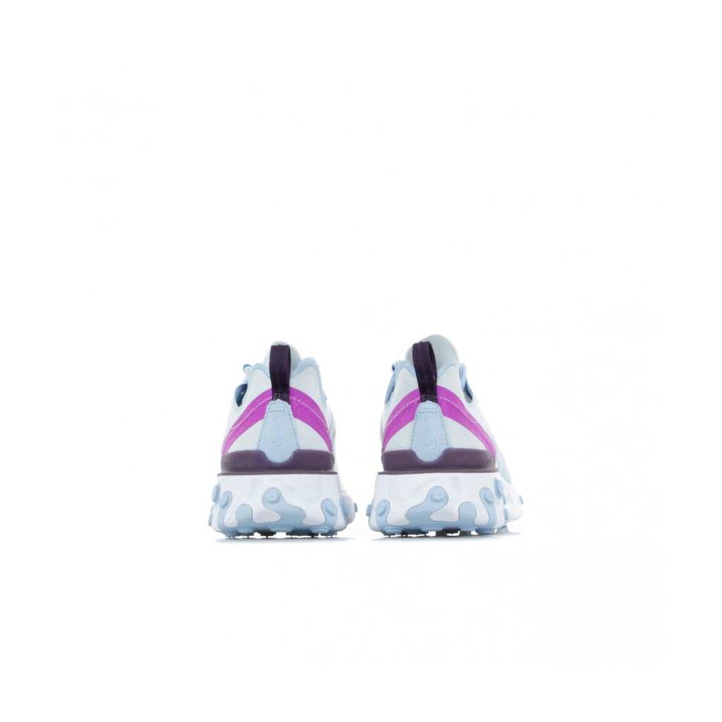 SCARPA BASSA REACT ELEMENT 55 FOOTBALL GREY/PSYCHIC BLUE/HYPER VIOLET