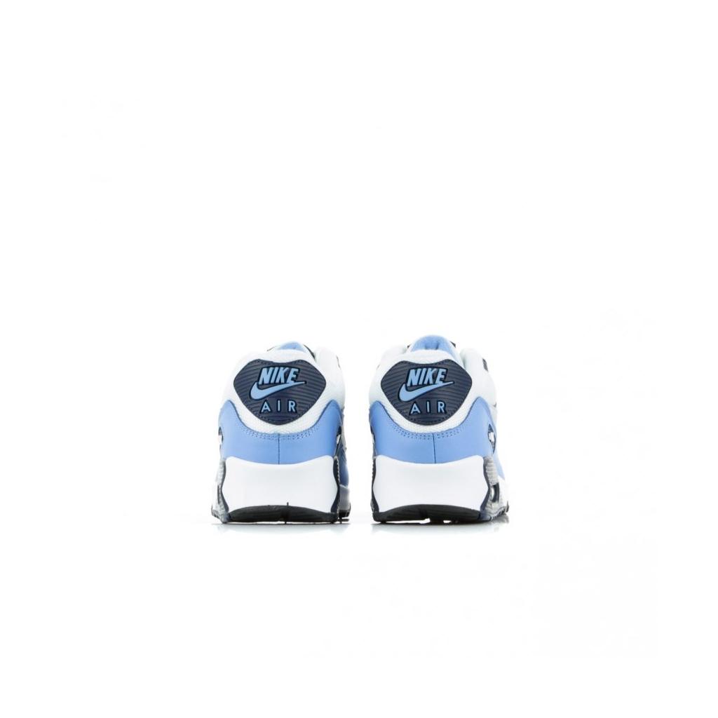 SCARPA BASSA AIR MAX 90 ESSENTIAL WHITE/PURE PLATINUM/UNIVERSITY BLUE
