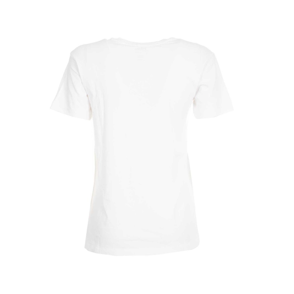 T-Shirt bianca in jersey con stampa WHITE