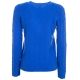 Pullover a trecce blu con box logo SPAROYALMULT