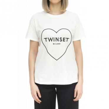T-shirt - 2606 t-shirt scritta 001 - bianco