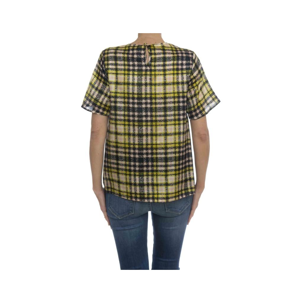 Camicia donna - Kaula l6546 camicia check 820 - Blu giallo quadro
