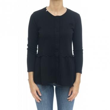 Felpa donna - F29206 giacchina felpa 11 - nero