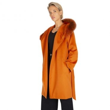 Cappotto in lana con pelliccia 005