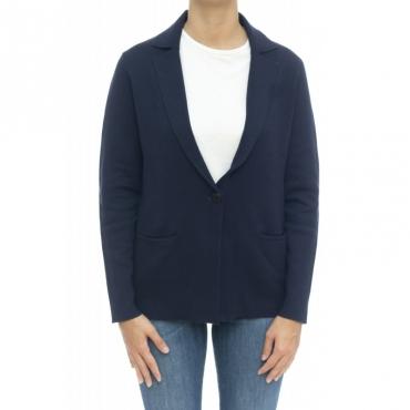 Giacca donna - K29211 giacchina punto milano 07 - Navy