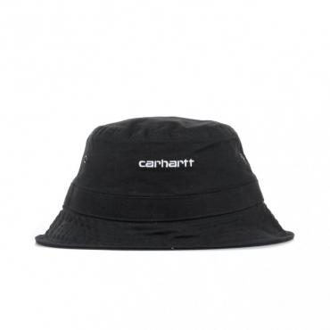 CAPPELLO DA PESCATORE SCRIPT BUCKET HAT BLACK/WHITE