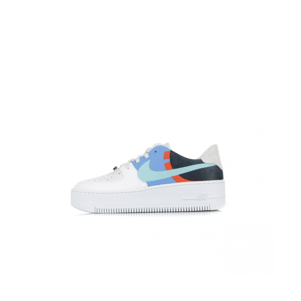 SCARPA BASSA W AIR FORCE 1 SAGE LOW LX PLATINUM TINTLIGHT AQUAOBSIDIAN