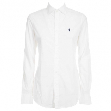 Camicia Slim Fit bianca con logo WHITE