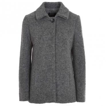 Cappotto in lana cotta con bottone 728