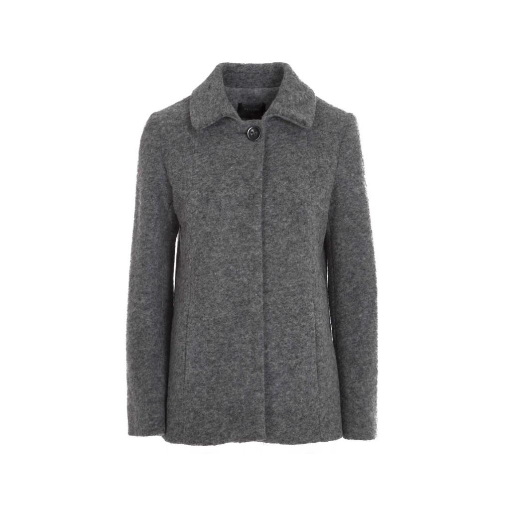 new product cb34f 8e8af PRIVATE - Cappotto in lana cotta con bottone 728 - Giacche e Cappot...