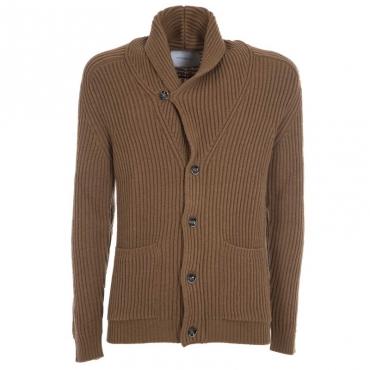 Cardigan in lana vergine 1181NOCCIOLA