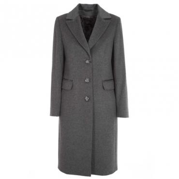 Maxi cappotto in lana vergine 6GRIGIO
