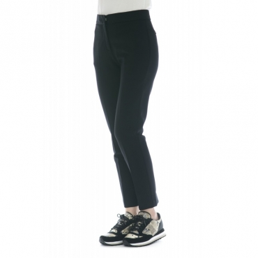 Pantalone donna - J4107 pantalone sigaretta 003 - Nero