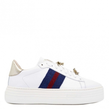 Sneakers 773-D-UP con bande BIANCO/BLU/R