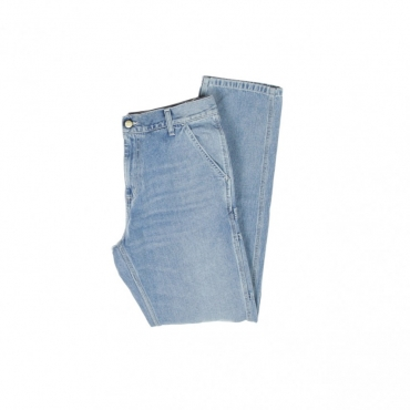 JEANS RUCK SINGLE KNEE PANT BLUE WORN BLEACHED