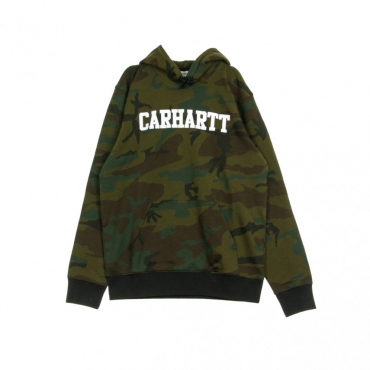FELPA LEGGERA CAPPUCCIO HOODED COLLEGE SWEAT CAMO EVERGREEN/WHITE