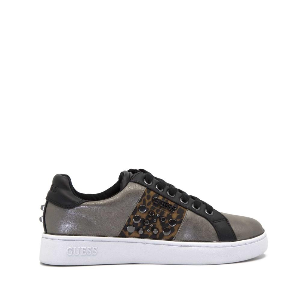 Sneakers Brandia con borchie e leopardo PEWTER PEWTER