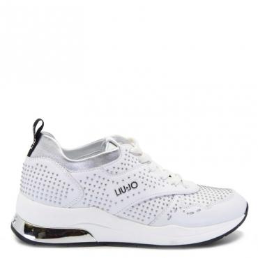 Sneakers Karlie con micro borchie 01111WHITE