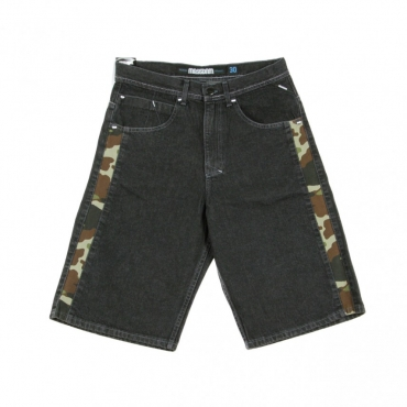 JEANS CORTO SHORTS SHELTER BLACK RINSED