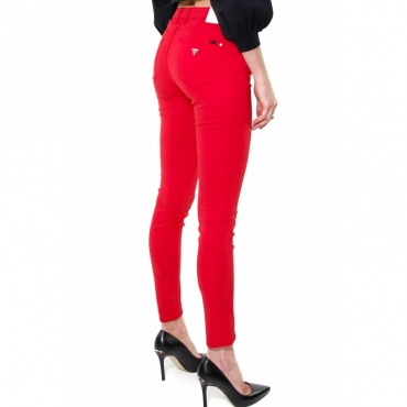 JEANS SKINNY IN COTONE STRETCH ROSSO