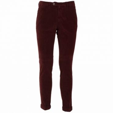 Pantalone a coste in misto cotone 92