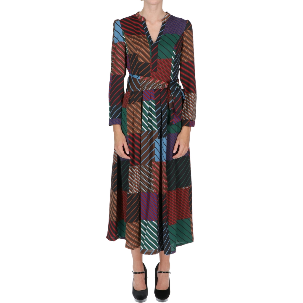 ABITO MANUELA LONG PATCHWORK MULTIC