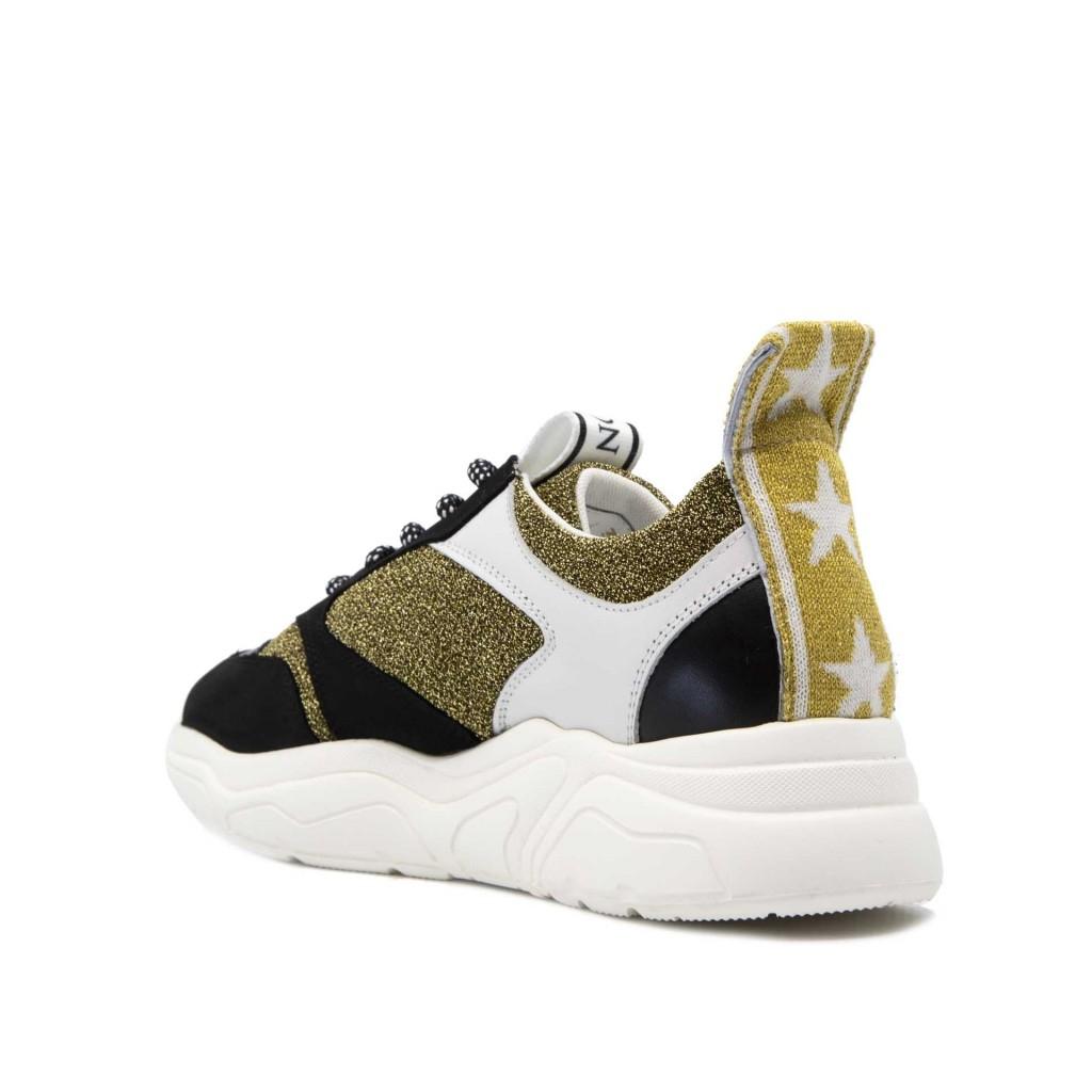Sneakers Nastro 33D glitterate ORO