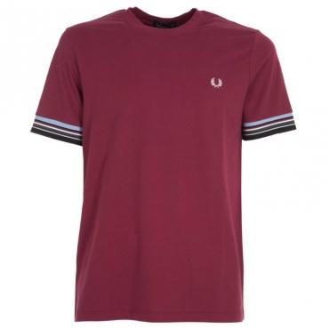 T-Shirt in cotone con fasce multicolor 106