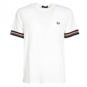 T-Shirt in cotone con fasce multicolor 129