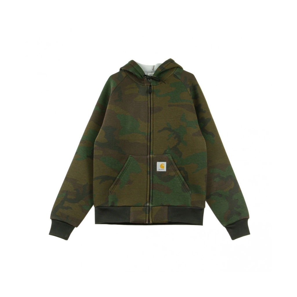 FELPA CAPPUCCIO ZIP CAR LUX HOODED JACKET CAMO EVERGREEN