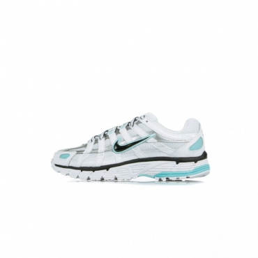 SCARPA BASSA W P-6000 WHITE/BLACK/METALLIC SILVER/LIGHT AQUA