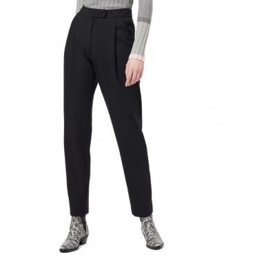 Pantalone classico in misto viscosa NERO