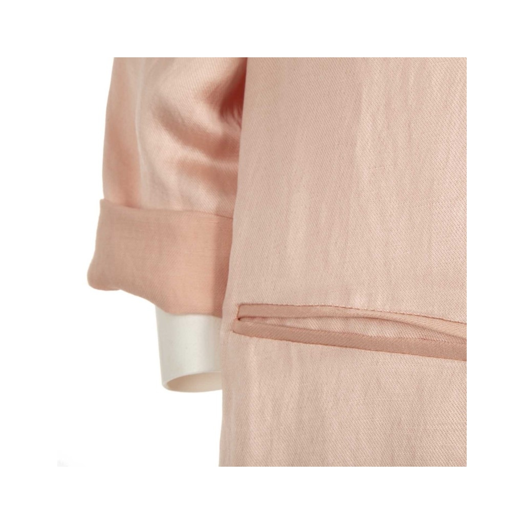 Giacca lunga rosa effetto scucito BATIDA1595