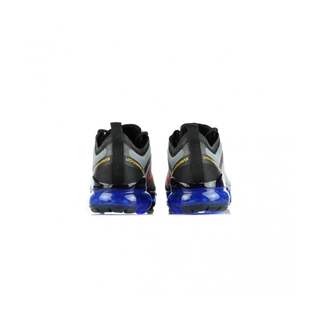 SCARPA BASSA AIR VAPORMAX 2019 BLACK/BRIGHT CRIMSON/HYPER BLUE