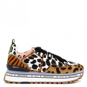 Sneakers maxi fantasia animalier S19C1