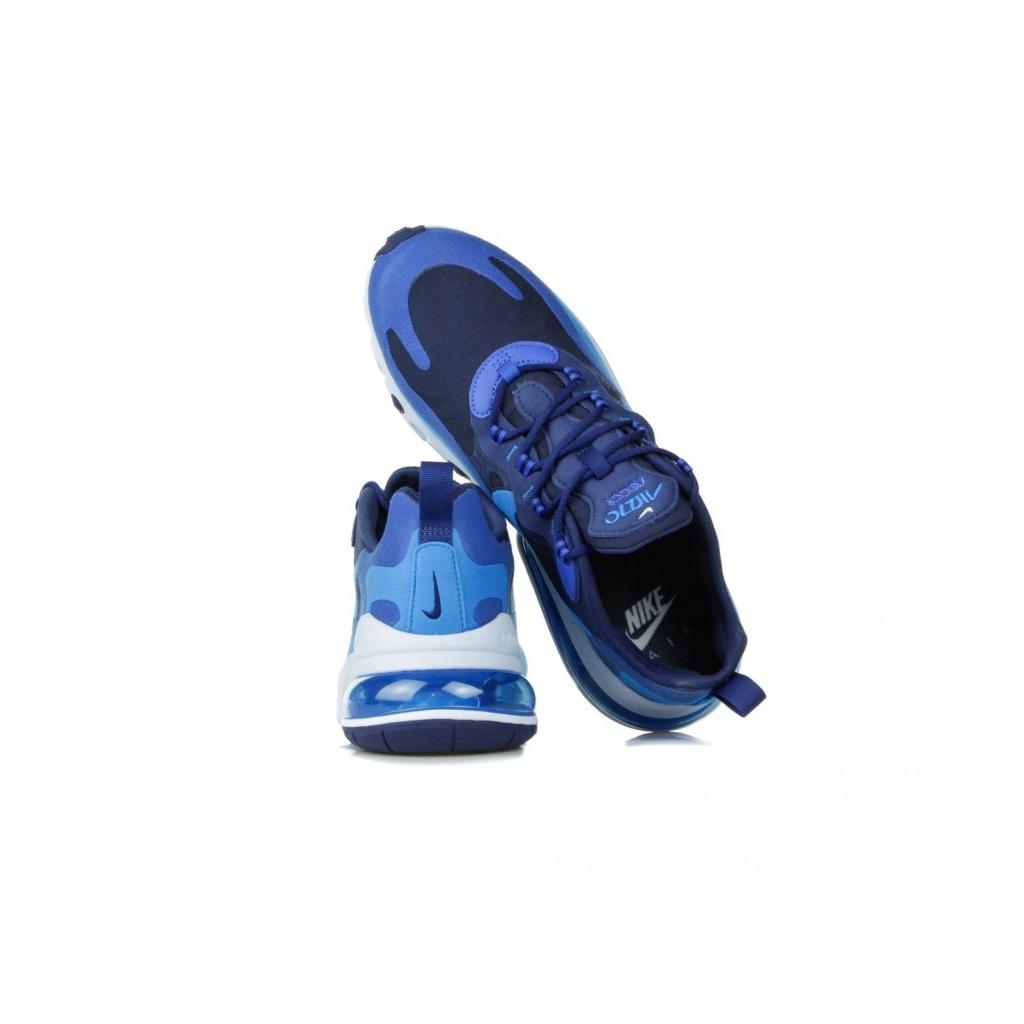 SCARPA BASSA AIR MAX 270 REACT BLUE VOID/PHOTO BLUE/GAME ROYAL