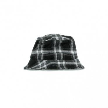 CAPPELLO DA PESCATORE JOHN PLAID BUCKET HAT BLACK