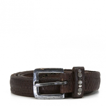 Cintura effetto vintage marrone BLACK