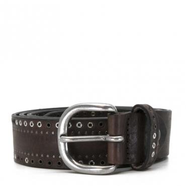 Cintura marrone con borchiette TMORO
