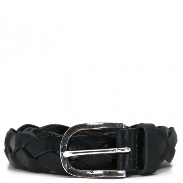 Cintura intrecciata nera in pelle BLU