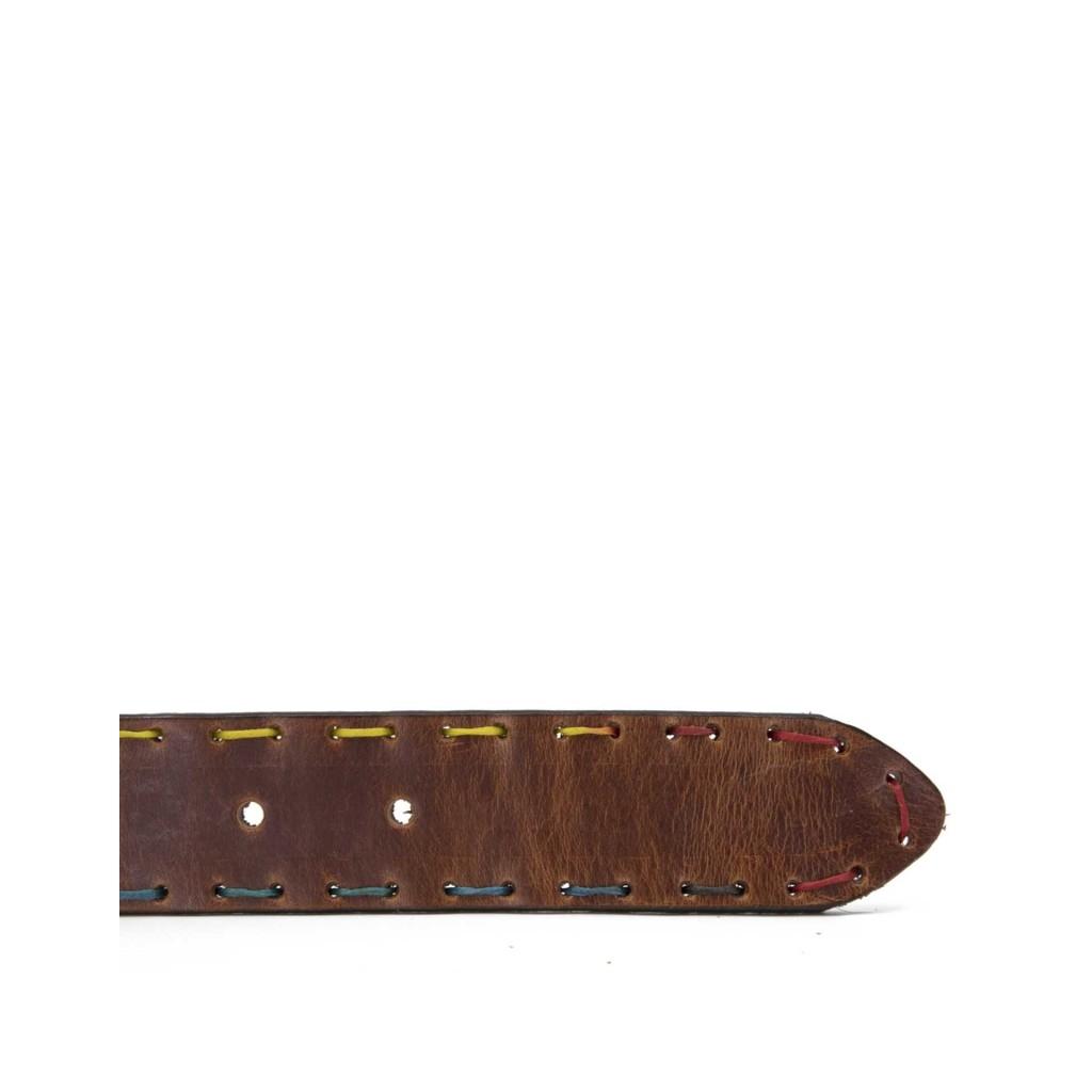 Cintura vintage con cuciture colorate COGNAC