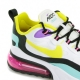 SCARPA BASSA AIR MAX 270 REACT GEOMETRIC ABSTRACT WHITE/DYNAMIC YELLOW/BLACK/BRIGHT VIOLET