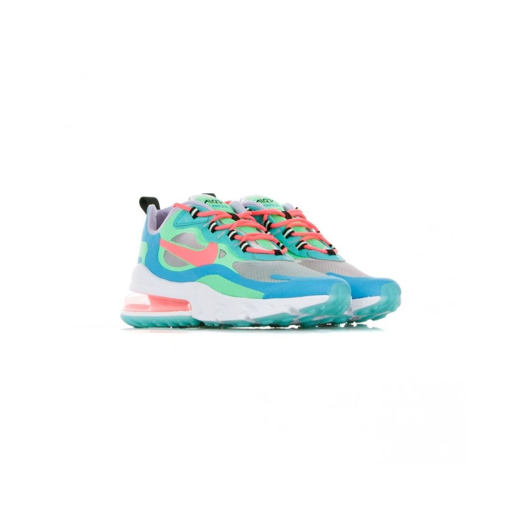 SCARPA BASSA W AIR MAX 270 REACT PSYCHEDELIC MOVEMENT ELECTRO GREEN/FLASH CRIMSON/BLUE LAGOON