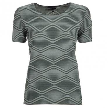 T-shirt con motivo a onde verde FANTGIUN/FOGL