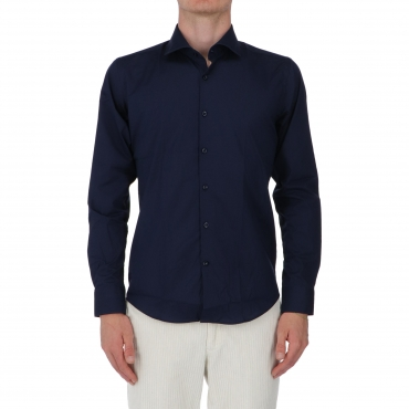 CAMICIA COLIN SLIM NO WASH BARBATI BLUE